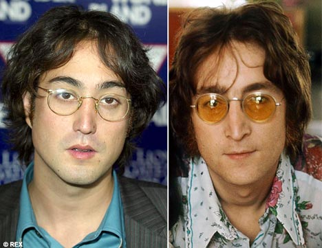 Father and Son John and Sean Lennon
